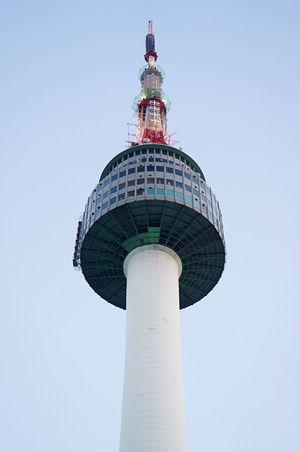 Tower City Outdoors Sky Clear Sky 남산타워 Namsan Tower  Attraction Seoul, Korea