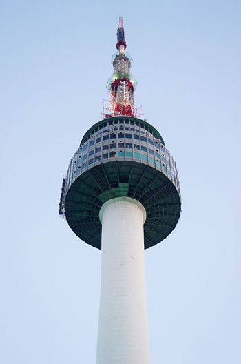 Tower City Outdoors Sky Clear Sky 남산타워 Namsan Tower  Attraction Seoul, Korea