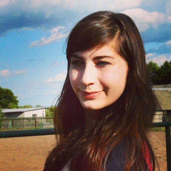 Girl Lady Polishgirl Poland polish brok smile hair fun summer holiday sky haha stable