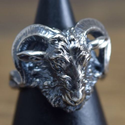 Hand Made Jewelry Ring Silveraccessories ArtWork MadetoOrder Goat Hello World