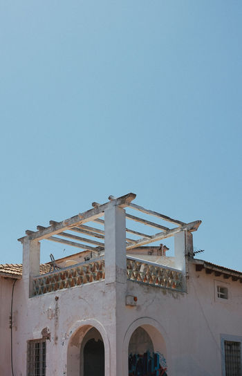 Ibiza SPAIN Arch Architecture Belief Blue Building Building Exterior Built Structure Clear Sky Copy Space Day History Low Angle View Nature No People Old Outdoors Religion Sky Sunlight The Past