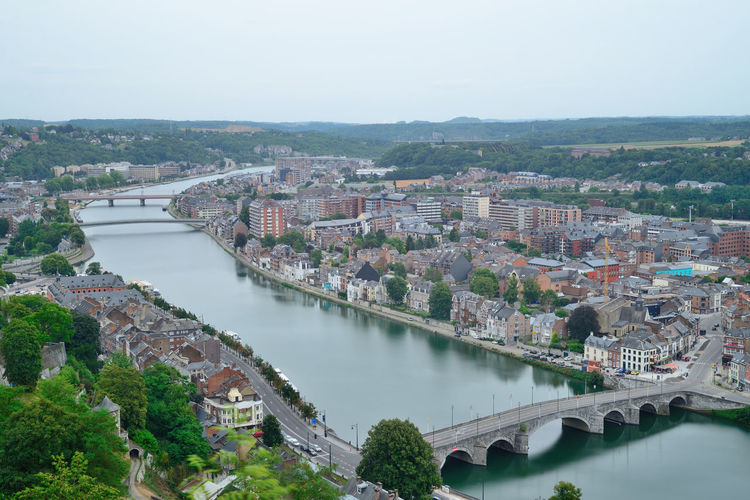 Namur Aerial View Architecture Bridge - Man Made Structure Building Exterior Built Structure City City Life Cityscape Connection Day High Angle View Nautical Vessel No People Outdoors River Scenics Sky Travel Travel Destinations Urban Skyline Water
