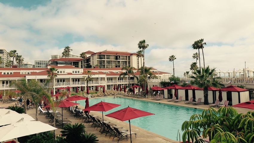 Pool at Hotel Del Coronado Amazing Pool California Dreaming Freeze The Moment Hotel Del Coronado San Diego Ca Strong Colors Summertime Windy Day