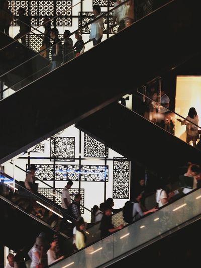 xcalator Architecture People Watching Escalator Minimalism