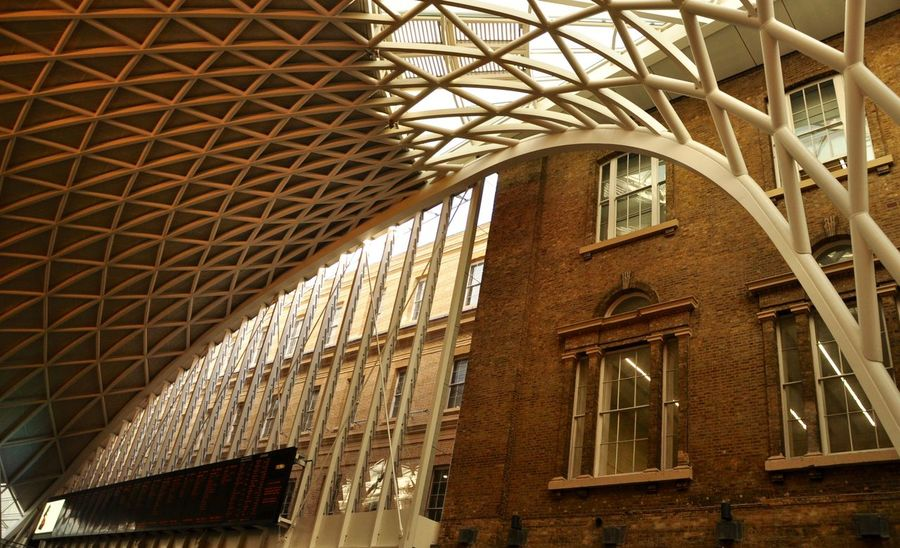 Architecture Building Exterior Built Structure Day Indoors  London Low Angle View No People St Pancras Station Window
