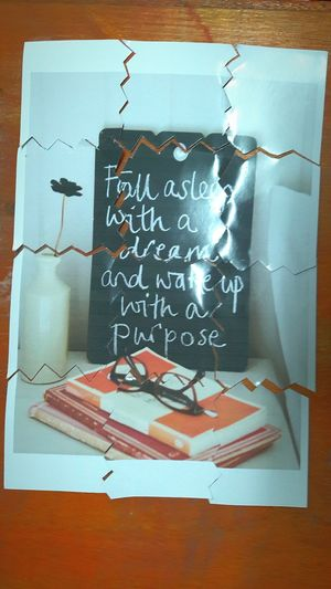 Fall asleep with a dream and wake up with a purpose. Dream Dreams Purpose Purposed Sleep Fall Asleep Jigsaw  Jigsaw Puzzle Jigsawpuzzle Portrait Portrait_shots Drawing - Art Product Sketch Drawing - Activity Sketch Pad Paper Blackboard  Indoors  Formula No People Childhood Day
