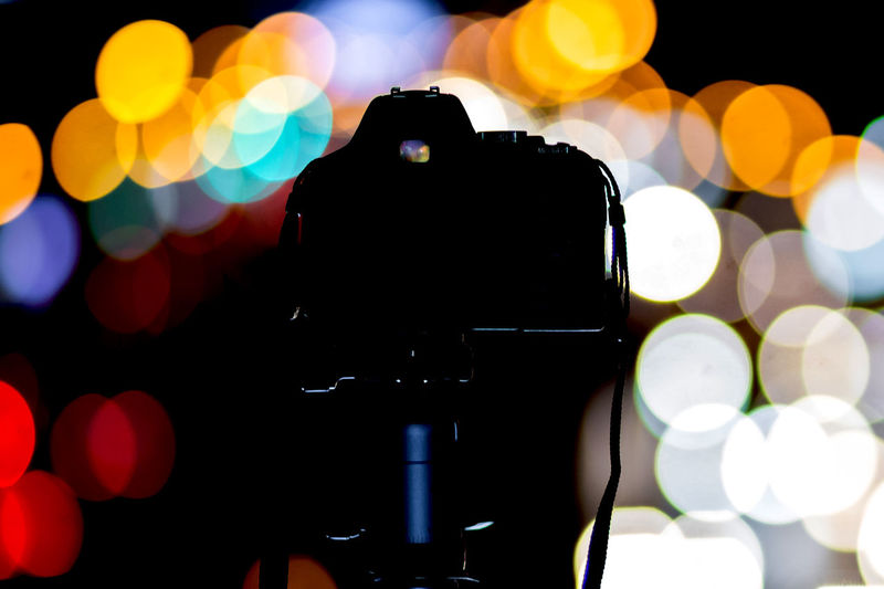 Let it be bokeh City Cityscape Colors Light Night Lights Nightphotography Silhouette Bokeh Camera Camera - Photographic Equipment Close-up Colorful Electrical Equipment Equipment Illuminated Lifestyles Night Nightlife Photographic Equipment Selective Focus Technology EyeEmNewHere