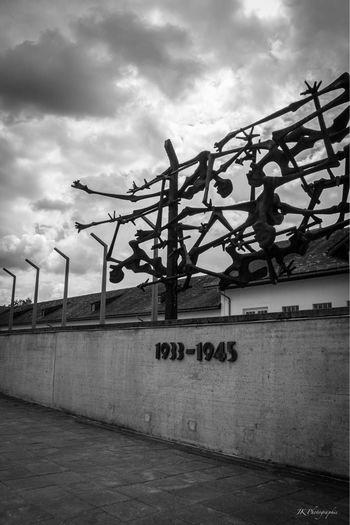 Remember how we died here. A visit that remains in the head Sky Text Architecture Art Gedenkstätte KZ Dachau Dachau History Tadaa Community Blackandwhite World War 2 Memorial Never Forget Geschichte Past