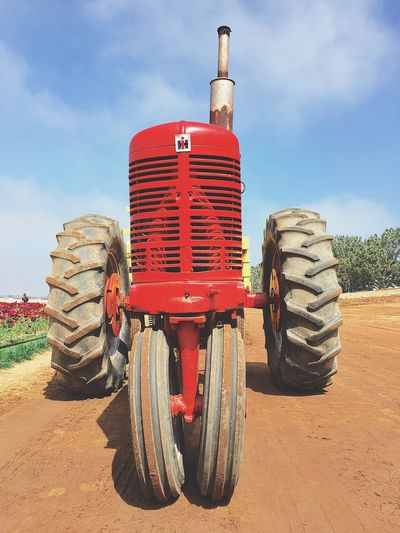 Agriculture Day Land Vehicle Mode Of Transport No People Outdoors Rubber Sky Tire Tractor Transportation Wheel