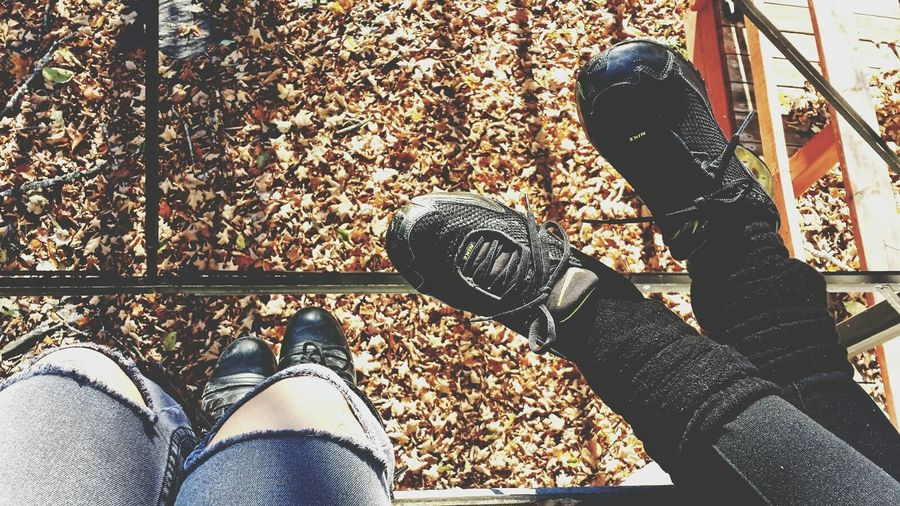 Just Hanging Out Chilling Taking Photos Autumn Colors Autumn Leaves Nature Fall Beauty Canada Leaves Naturelovers Nature Photography Birds Eye View Leaves_collection Shoes
