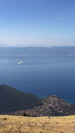 Ohrid Macedonia Adventure Landscape Paragliding Lake View Old Town Mountain