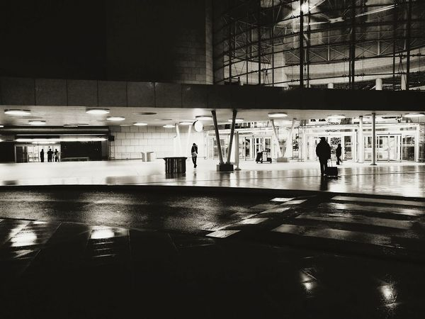 Lisbon Black & White Blackandwhite Black And White Night Airport