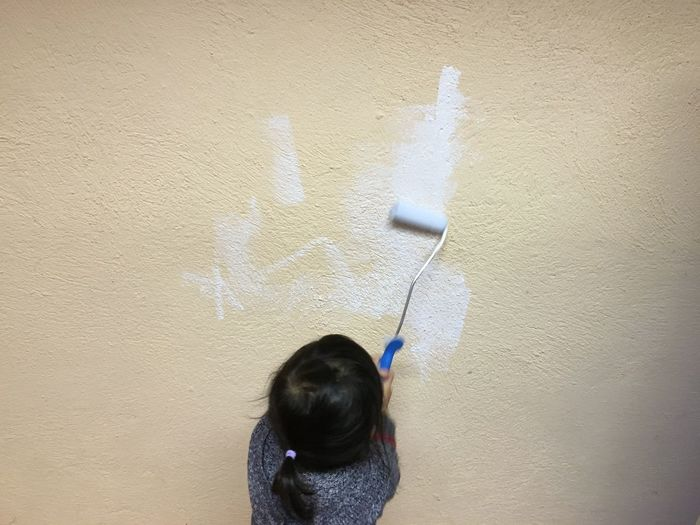 Step By Step Painting Wall Scribble Start Little