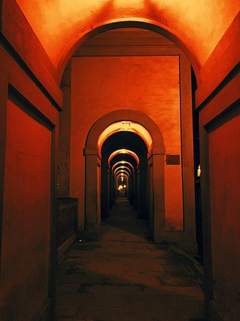 The Way Forward Arch Corridor Indoors  Diminishing Perspective Built Structure Architecture No People Illuminated Day