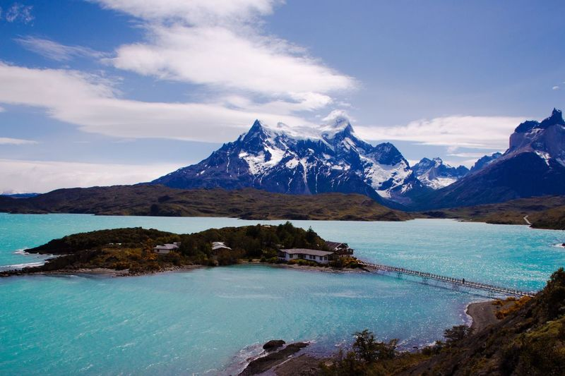 Lago Pehoe in Torres Del Paine National Park Patagonia, Chile
