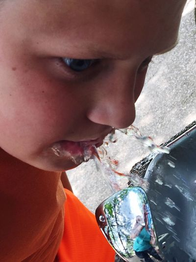 EyeEm Selects Real People Childhood Boys Close-up Water Family Time