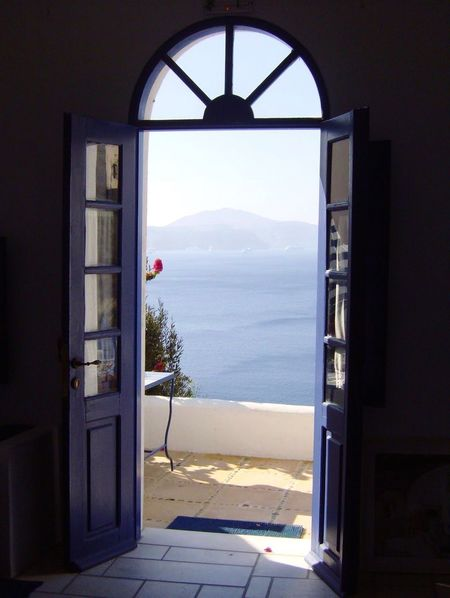 The door on the see EyeEmNewHere EyeEm Best Shots Nature Architecture Water Looking Through Window Sky Sea No People Day Indoors  Mountain Window