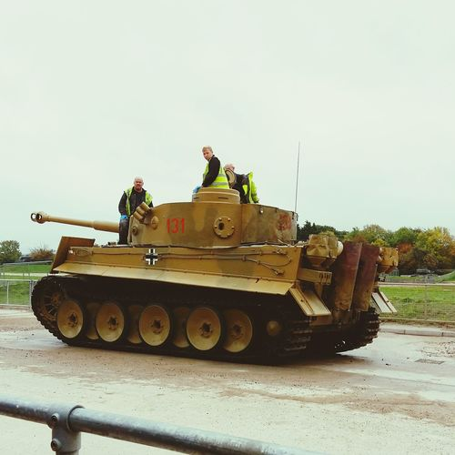A picture of the Last Working German Tiger Tank . This picture was taken at the Tank Museum . Featuring Military Outdoors Day War Mode Of Transport Sky History Tank Museum Daytime