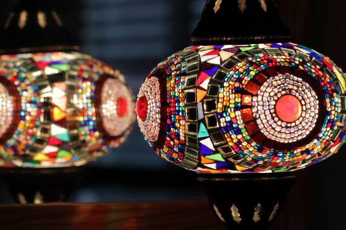 Colorful Glass Lampshade Lamp In Mirror Lampshade Turkish Lamp