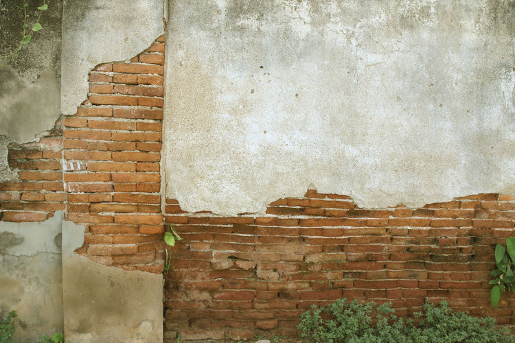 Brick wall of old building