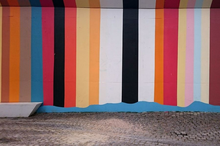 Colors Patterns Wall Mural Street Art Multi Colored Sand Day Beach No People Outdoors Architecture Close-up