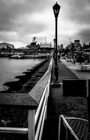 Pier 86 New York...... Lgarciaphoto IPhone 7 Plus Iphoneonly IPhone IPhoneography IPhone Photography Iphonephotography Shot On IPhone New York City Newyork New York Newyorkcity Blackandwhite Black And White Pier Water Built Structure Architecture Sky City Outdoors Bridge - Man Made Structure Day No People Nature