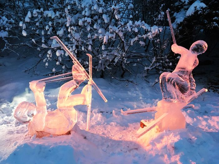~It's snowing again~ With light show 〰😄〰 Shades Of Winter Beauty In Nature Cold Temperature Ice Ice Age Ice Cream Ice Sculpture Ice, Ice Baby❄️ Iceland Nature No Spring 🐝 No Summer🌻 Snow Sound Of Life Winter Thank You My Friends~~ ~~😊😊~~