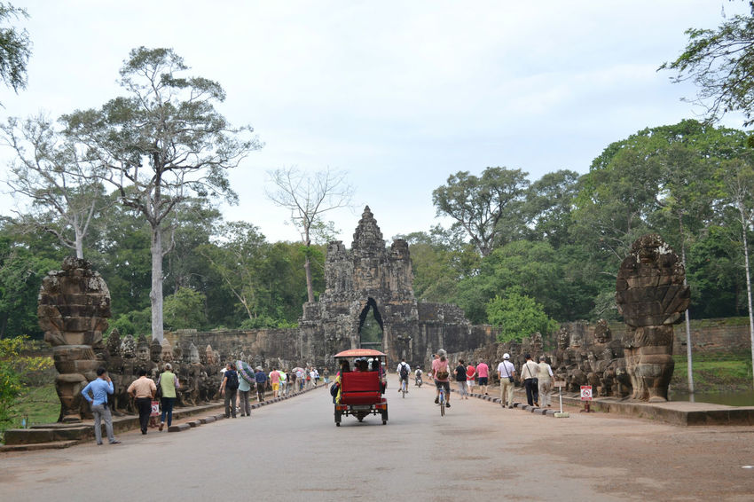 Angkor Thom: The Faces of South Gate & Bayon Temple Ancient Civilization Angkor Thom Architecture Architecture ASIA Bayon Temple Cambodia Cultures Outdoors Ruins Temples Tourism Tourism Destination Tourist Travel Destinations
