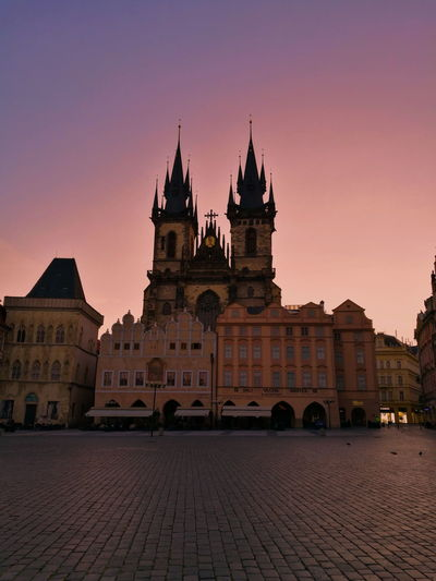 Sunrise in Prague Architecture Sunset Business Finance And Industry Travel Destinations History City Outdoors Night Cityscape No People Politics And Government Sky
