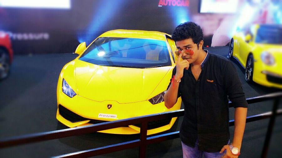 She's Gorgeous  Lamborghini Car Autocarshow Amchi_Mumbai Lookoftheday Looking Handsome FAB Vivek KeviV