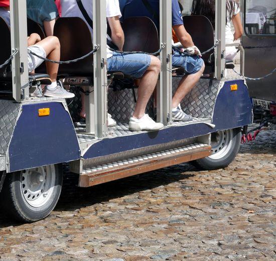 Tourists City Train Sightseeing Tour Summer Holidays Avignon France