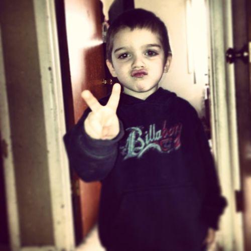 I love my nephew. Mini Thug