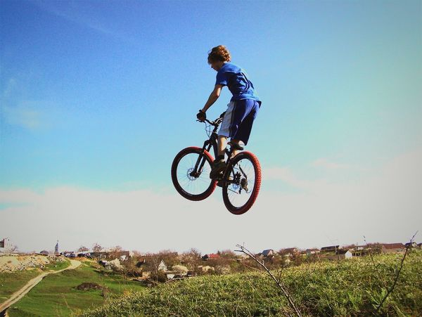 That's Me 8 years ago. .. Youth Extremesport Bike Bicycle Having Fun Landscape