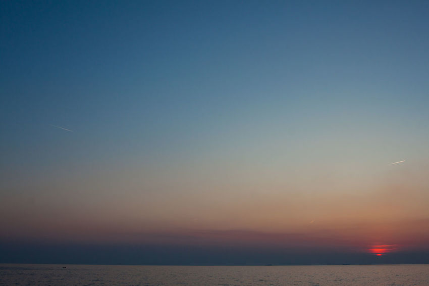 Beauty In Nature Clear Sky Evening Sky Horizon Over Water Idyllic Nature No People Outdoors Scenics Sea Sky Sunset Tranquil Scene Tranquility Water