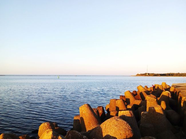 Daugava Baltic Sea Jetée Jetty Baltic States Baltic Countries Water Groyne Clear Sky Sea Sunlight Sky Coastal Feature