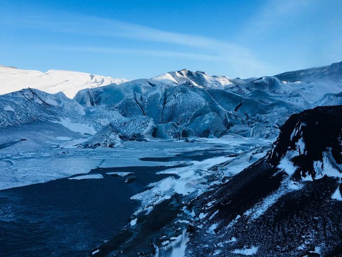 Sólheimajökull Solheimajokull Glacier Iceland_collection Iceland EyeEm Selects Cold Temperature Ice Snow Beauty In Nature Frozen Winter Nature Mountain Scenics Tranquil Scene Glacier Landscape Tranquility No People Remote Outdoors Sky Day Mountain Range
