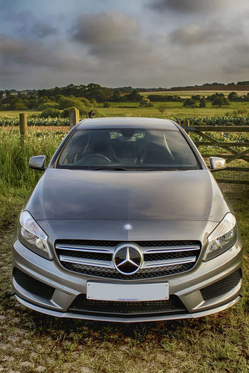 Mercedes Merc Mercedes-Benz Sky Farm Field A200amg A200 Car New Car Prestige