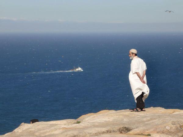 Horizon Over Water Man Morocco Ocean Scenics Sea Sky Tangier View Water