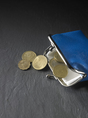 coin purse on the black background Fashion Leather Retro Woman Accessories Bank Blue Change Coin Purse Expenses Finance Metaphor Money No People Object Payment Purse Small Change Wealth