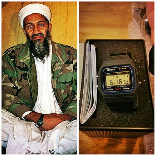 "My new casio is also called as the ""terrorist""watch...just coz Osama wore it?. Silly Watchesofinstagram Watchesofinstagram Watchoftheday Casiowatches Casio Alqueda"