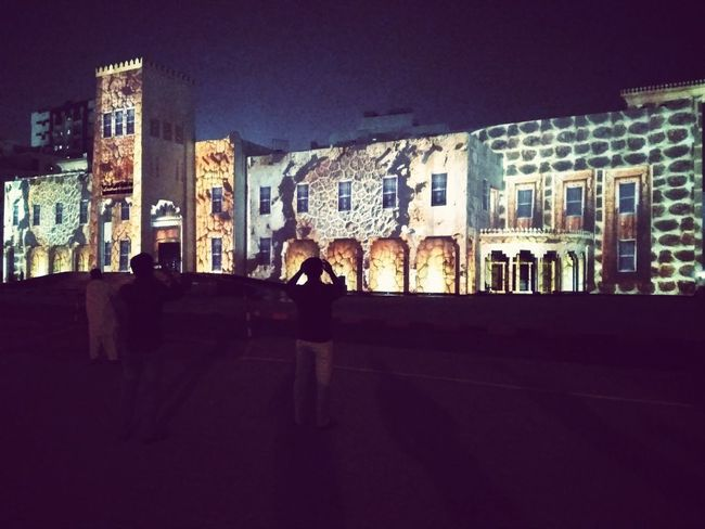 Light festival... Sharjah... Theatre shottwo Night City Arts Culture And Entertainment Travel Destinations Street Art