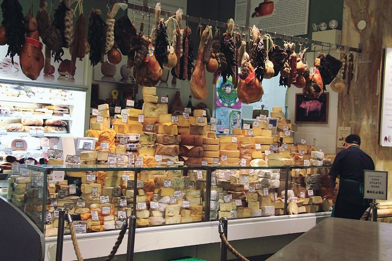 NYC Food Meat Cheese Store Retail  Indoors  Business Business Finance And Industry Men People Adult