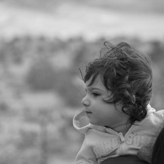 Baby Black And White Black And White Photography Model Cute Messed Up Hair Cuteness Innocence Black And White Collection  EyeEm Bnw EyeEm Best Shots - People + Portrait EyeEm Baby Bokeh Outdoors Road Trip Taking Pictures Taking A Break People Potrait_photography