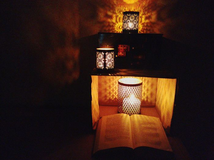 Book Lighting Equipment Illuminated Indoors  Architecture Close-up No People Light And Shadows Light In The Darkness Candle Candles Burning Candle Holder Beauty Beautiful Nightphotography Night Lights Night Darkness And Light