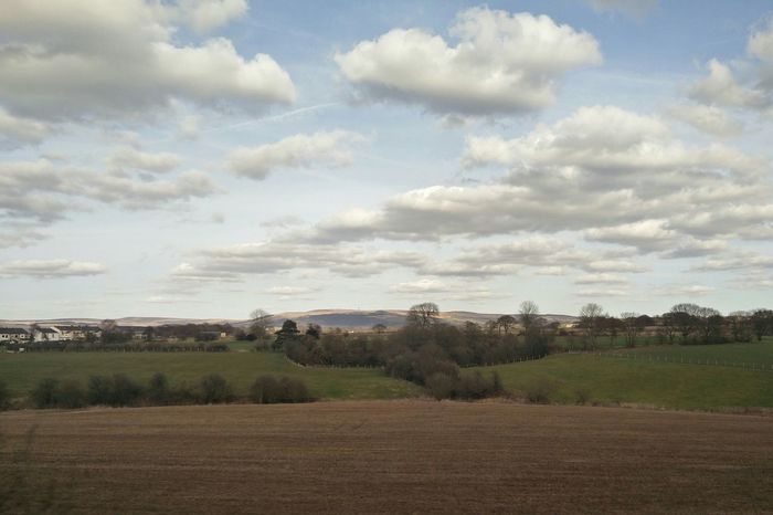 Train View Window Liverpool Sky Clouds Beautiful Lovely Countryside Country