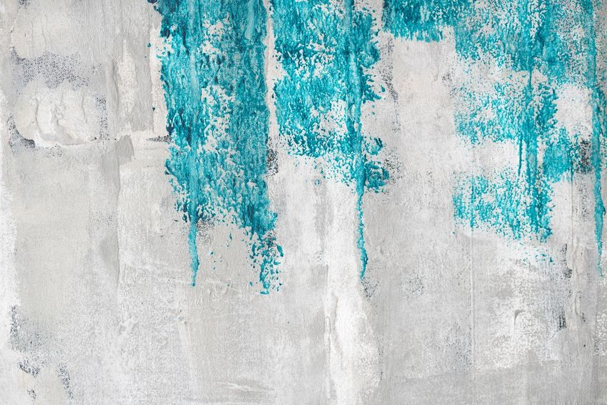 Abstract paint on a wall Abstract Wall - Building Feature White Color Rough Built Structure Textured  Green Color Architecture Building Exterior No People Backgrounds Paint Blue Close-up Outdoors Whitewashed Day