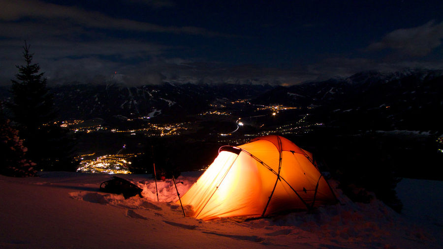 Atmosphere Atmospheric Mood Awesome Camping Citymountainlife Cloud Majestic Nature Night Nordkette Orange Color Outdoors Tent Tranquil Scene