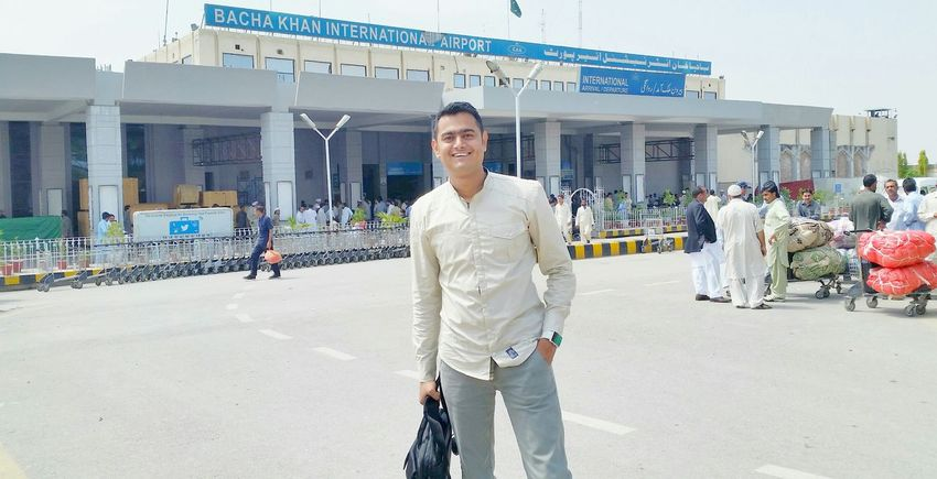 Arrived Peshawar Airport American Boy Love My Work Travel Is Life Amazing World Fantastic People No Love