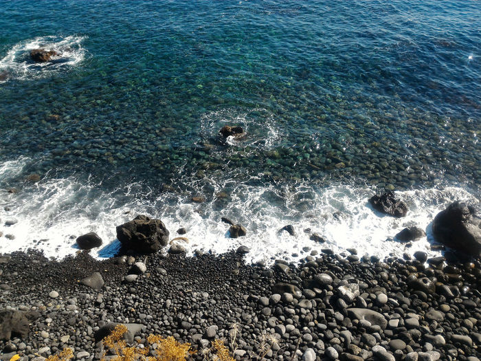 Sicilian Beach Italian Beach Transparent Nature Photography Travel Photography Water Sea Beach Backgrounds Full Frame High Angle View Sand Sunlight Pebble Beach Pebble Rushing Stone Coast Wave Horizon Over Water Clear Rock