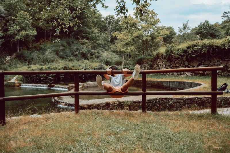 Portrait of boy in playground